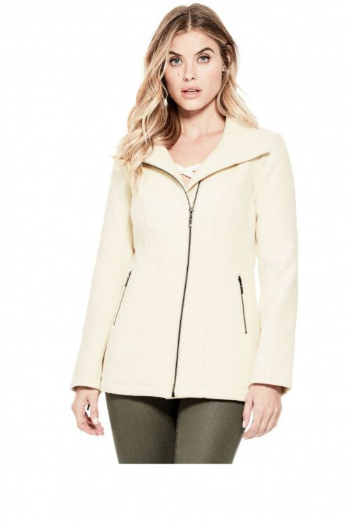 GUESS kabát Apalonia Peacoat béžová