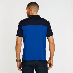 Nautica polo tričko Pieced Mesh Shoulder Polo