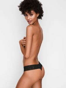 Victoria Secret kalhotky Lace-waist Thong Panty Victoria's Secret
