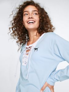 Victoria Secret tričko s dlouhým rukávem Campus Lace-Up Long Sleeve Tee Victoria's Secret