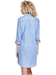 GUESS šaty Taryn Chambray Shirtdress