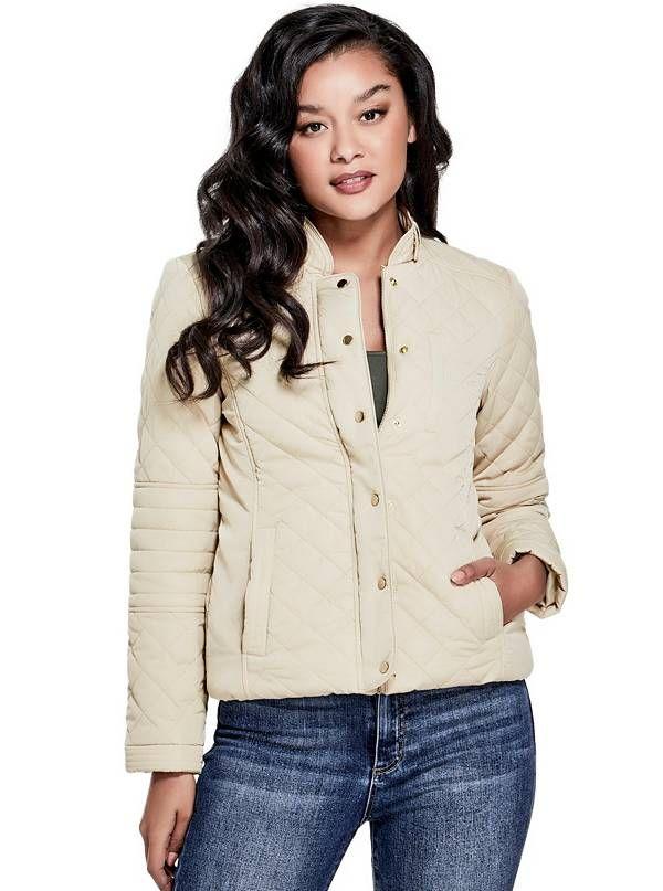 GUESS zimní bunda Annett Quilted Panel Jacket