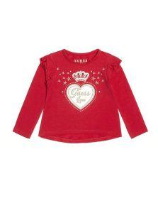 GUESS dívčí tričko s dlouhým rukávem Crown