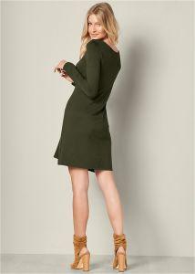 VENUS šaty LATTICE DETAIL CASUAL DRESS