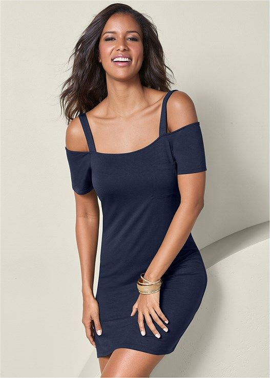 VENUS šaty POCKET DETAIL CASUAL DRESS