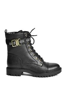 GUESS boty Placing Faux-Suede Combat Boots