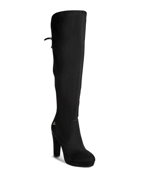 GUESS kozačky Latent Heeled Over-The-Knee Boots