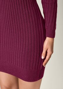 VENUS šaty V-NECK SWEATER DRESS