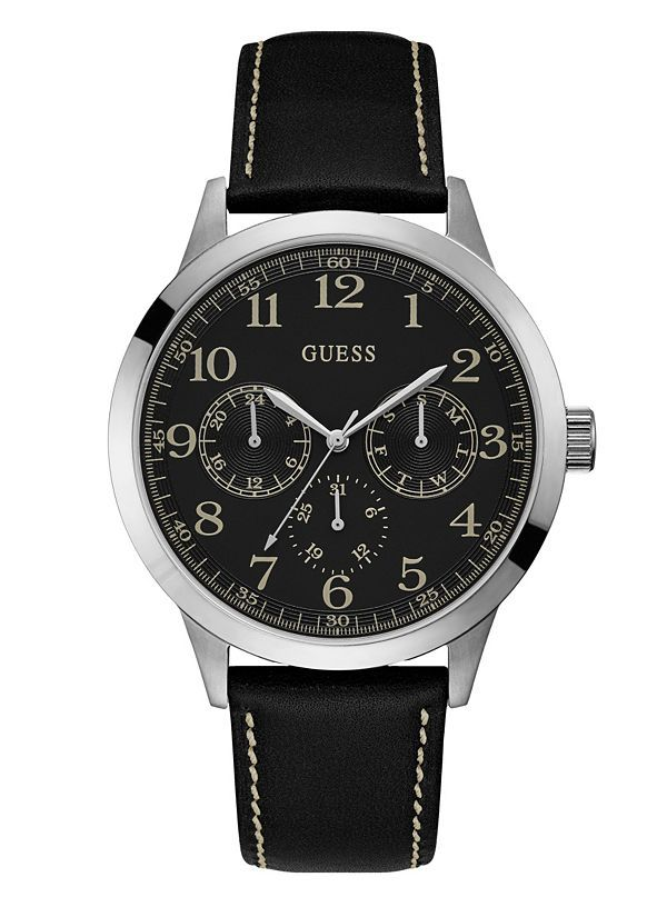 GUESS hodinky Black Multifunction Watch W1101G1