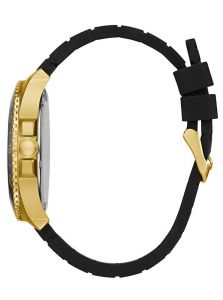 GUESS hodinky Black and Gold-Tone Multifunction Watch U0798G3M
