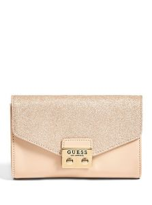 GUESS kabelka Dahlia Logo-Debossed Crossbody Clutch