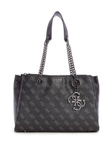 GUESS kabelka Mia Logo Girlfriend Satchel