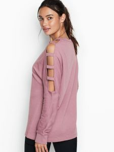 Victoria Secret mikina Strappy-sleeve Pullover Victoria's Secret