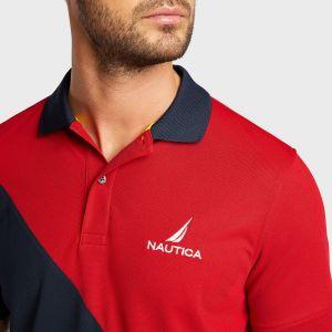 Nautica pánské polo Navtech Classic Fit Diagonal Colorblock Polo