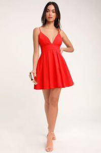 Lulus dámské šaty HERE FOR THE PARTY SLEEVELESS SKATER DRESS