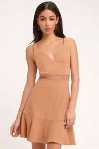 Lulus dámské šaty LOVER OF MINE CROCHET LACE MINI DRESS
