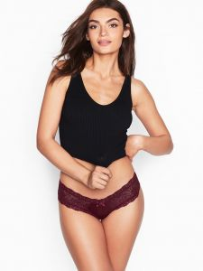 Victoria Secret kalhotky Lace Cheeky Panty Victoria's Secret