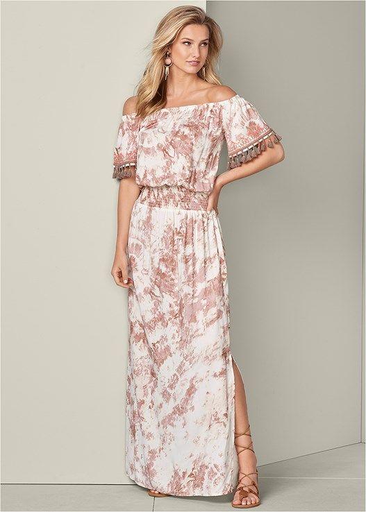 VENUS šaty TIE DYE MAXI DRESS