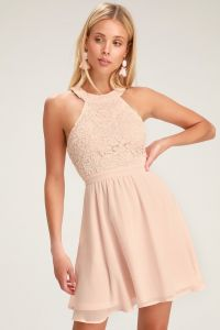 Lulus dámské šaty LOVER'S GAME BLUSH PINK