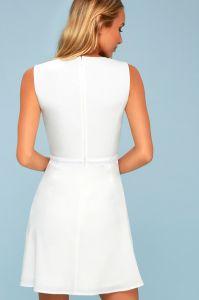 Lulus dámské šaty FLORENTIA CROCHET LACE SKATER DRESS