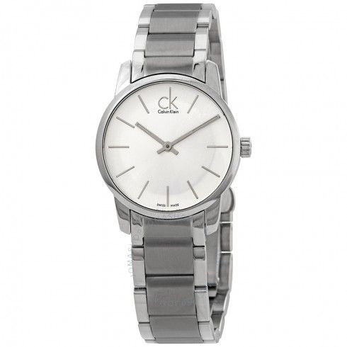 Calvin Klein hodinky City Silver Dial Stainless Steel Ladies Watch