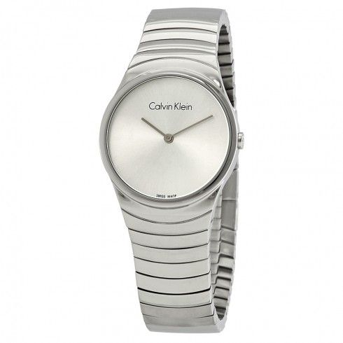 80098dec1c Calvin Klein hodinky Whirl Silver Dial Stainless Steel Ladies Watch
