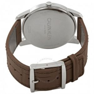 Calvin Klein hodinky City Brown Dial Brown Leather Men's Watch