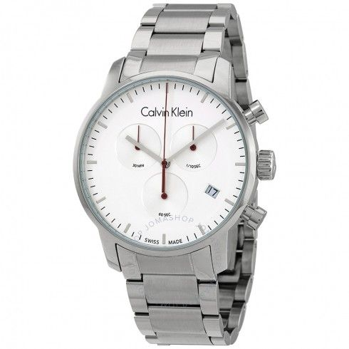Calvin Klein hodinky City Chronograph Quartz Silver Dial Men's Watch