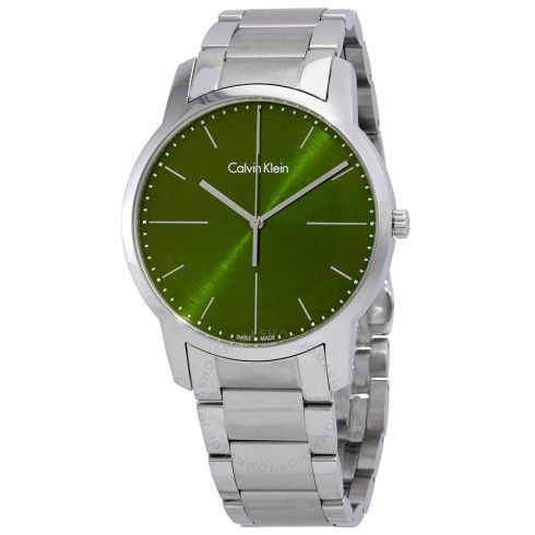 Calvin Klein hodinky City Green Dial Men's Watch