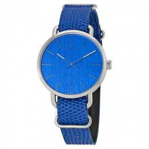 Calvin Klein hodinky Even Blue Dial Blue Leather Men's Watch