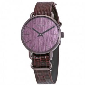 Calvin Klein hodinky Even Purple Dial Purple Leather Men's Watch