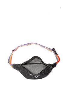 GUESS ledvinka Rainbow-Strap Denim Logo Fanny Pack