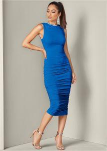 VENUS šaty NECKLACE DETAIL DRESS