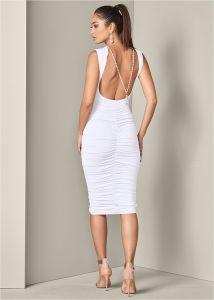 VENUS dámské šaty NECKLACE DETAIL