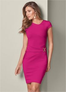 VENUS šaty TRIM DETAIL BODYCON DRESS