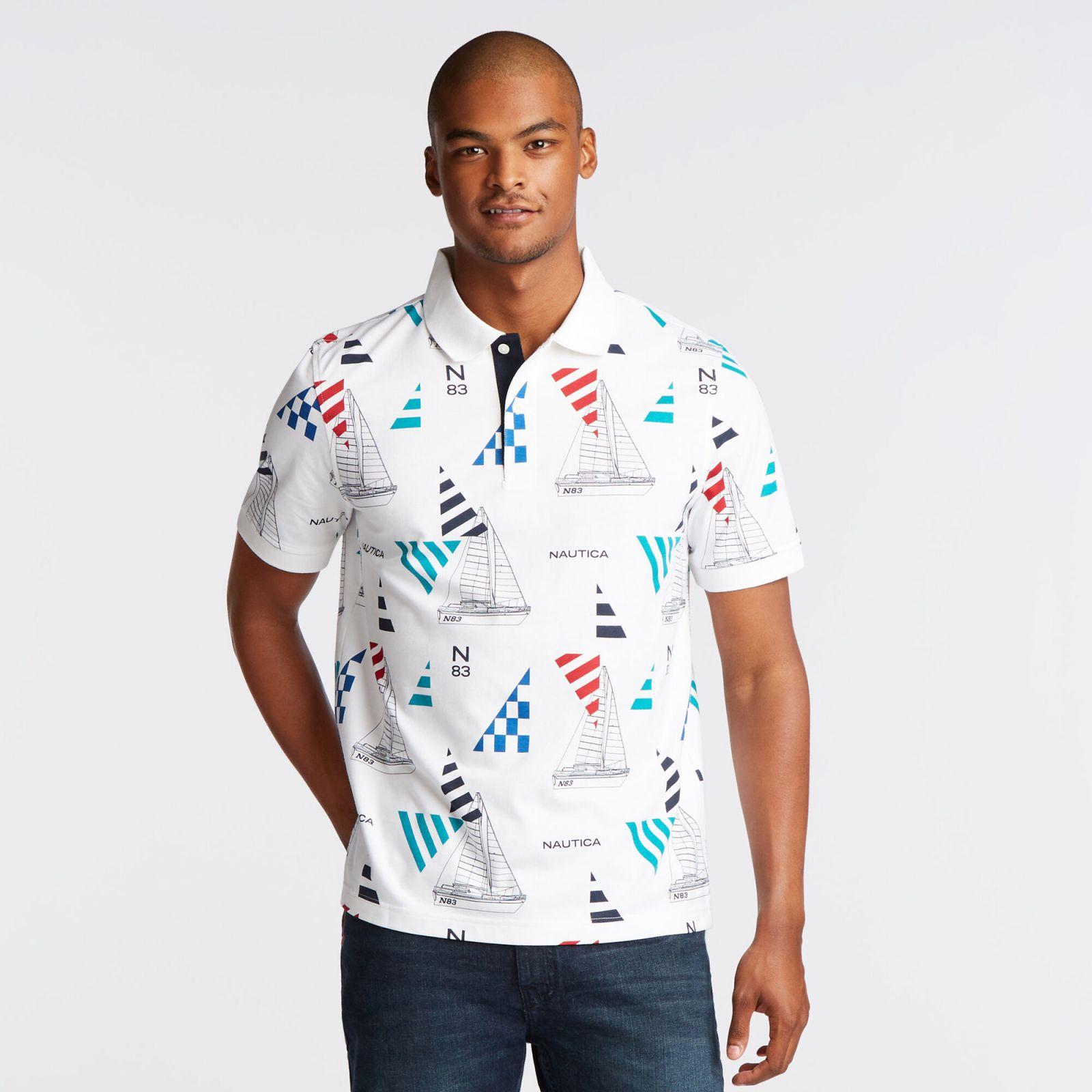 Nautica polo tričko PRINTED POLO IN GEO SAILING PRINT