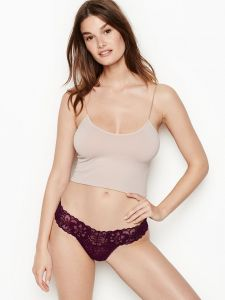 Victoria Secret dámská tanga Heart Thong Cotton
