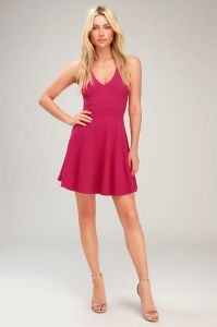 Lulus dámské šaty Katrina Fuchsia