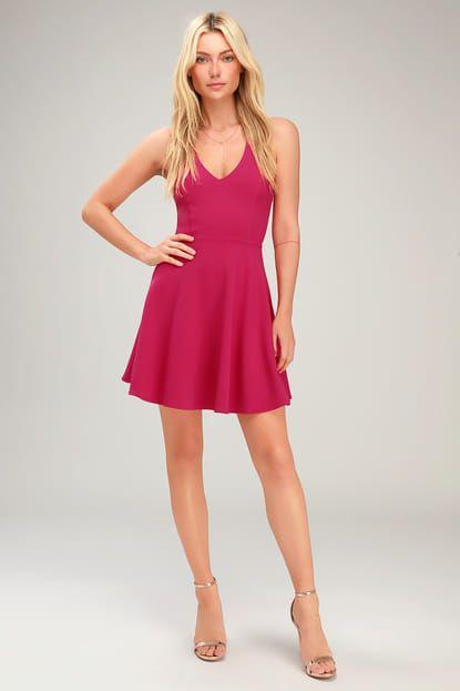 Lulus dámské šaty Katrina Strappy Sleeveless Skater Dress