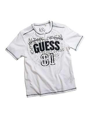 GUESS tričko Ethan Tee