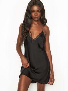 Victoria's Secret dámská košilka Satin Jacquard Lace-trim Slip