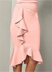 VENUS šaty RUFFLE DETAIL DRESS