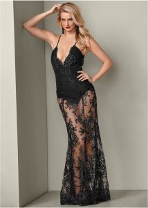 VENUS dámské šaty  SHEER LACE