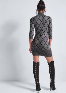 VENUS šaty TURTLENECK SWEATER DRESS