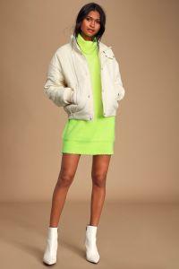 Lulus dámské svetrové šaty Snuggly Occasion