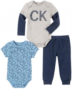 Calvin Klein oblečení pro miminko 3 Pieces Bodysuit Pants Set