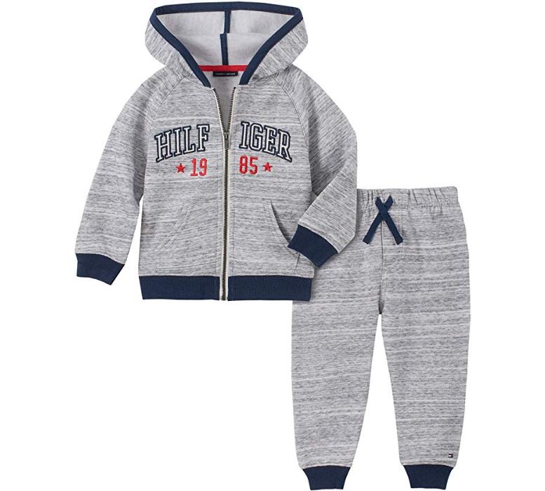 Tommy Hilfiger luxusní oblečení pro miminko Baby Boys 2 Pieces Hooded Jog Set