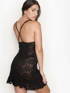 Victoria's Secret dámská košilka Slip Black