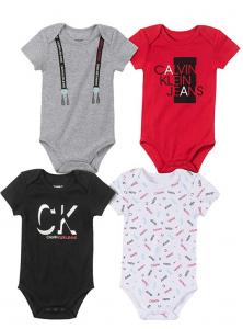 Calvin Klein oblečení pro miminko 4 Pack Bodysuit