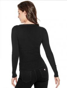 GUESS svetr Zhuri Ribbed Logo Sweater